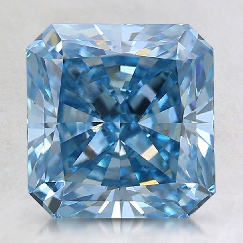 2.01 Ct. Fancy Intense Blue Radiant Lab Created Diamond