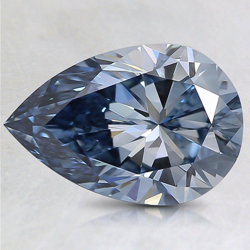 1.53 Ct. Fancy Blue Pear Lab Created Diamond