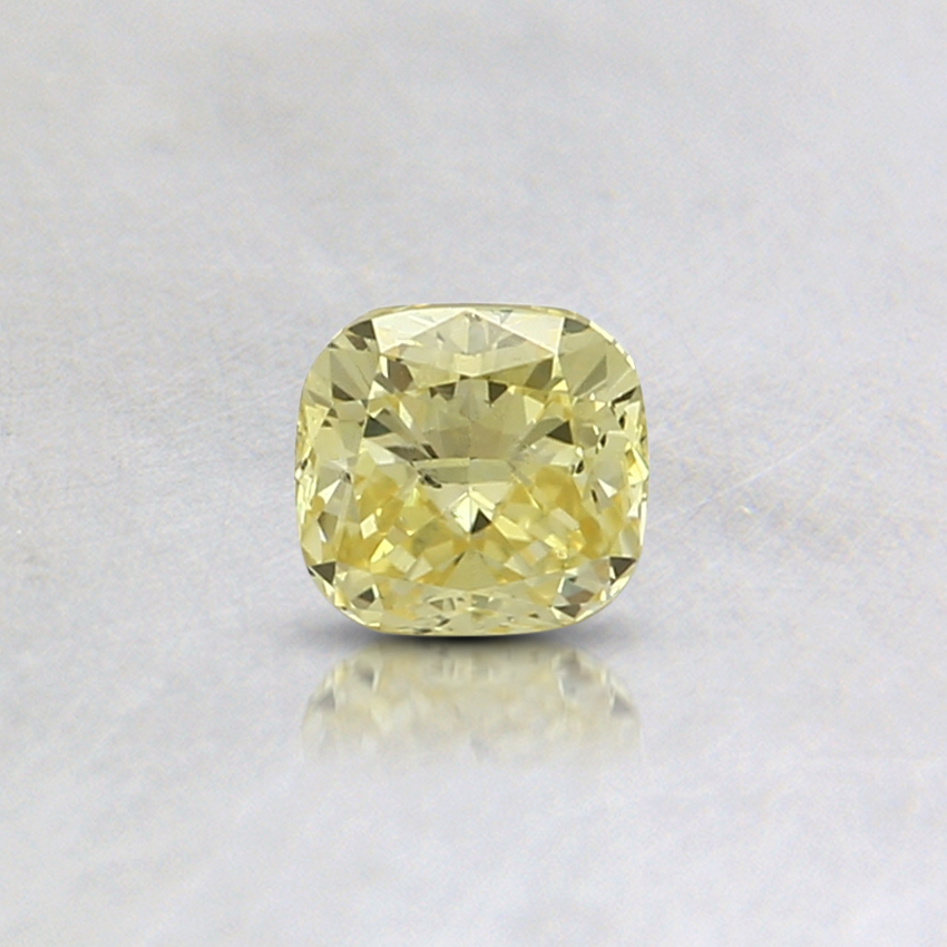 0.30 Ct. Fancy Intense Yellow Cushion Lab Created Diamond