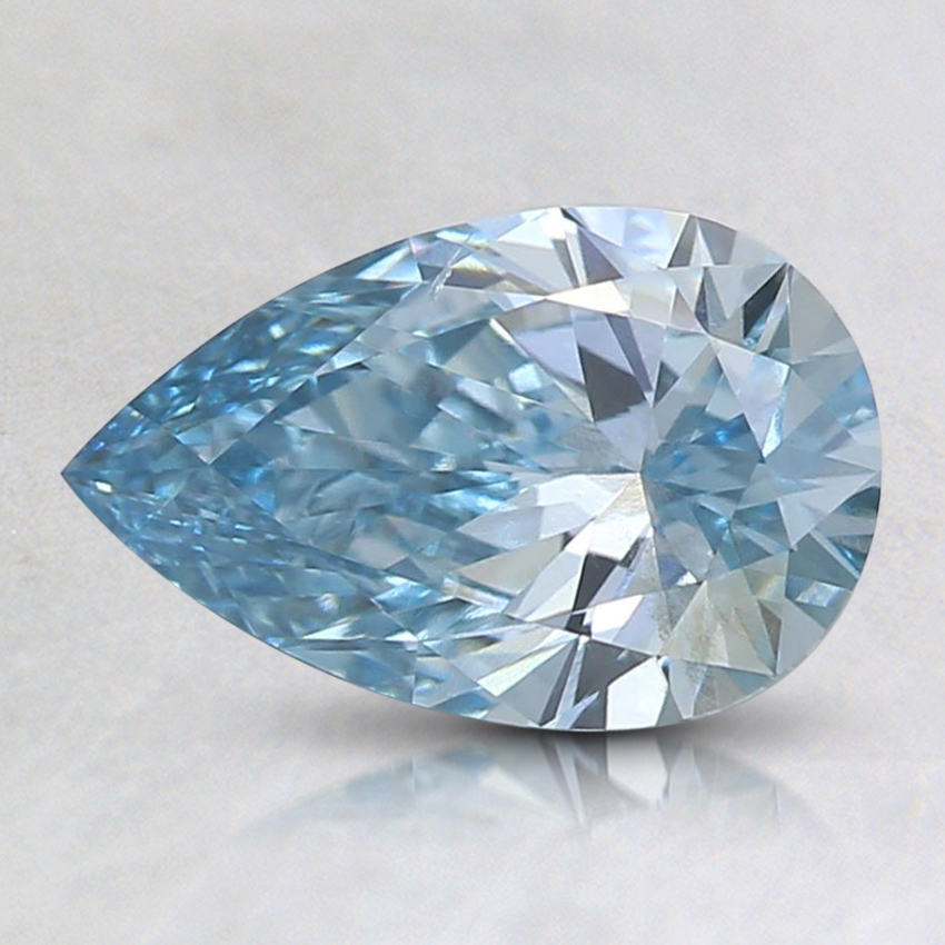 1.01 Ct. Fancy Intense Green-Blue Pear Lab Created Diamond