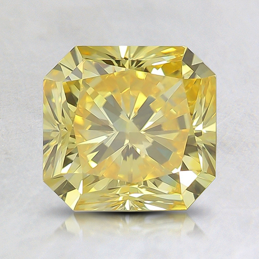 1.64 Ct. Fancy Vivid Yellow Radiant Lab Created Diamond
