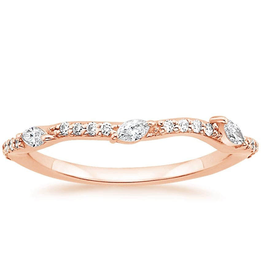14K Rose Gold Luxe Willow Diamond Ring (1/5 ct. tw.), top view