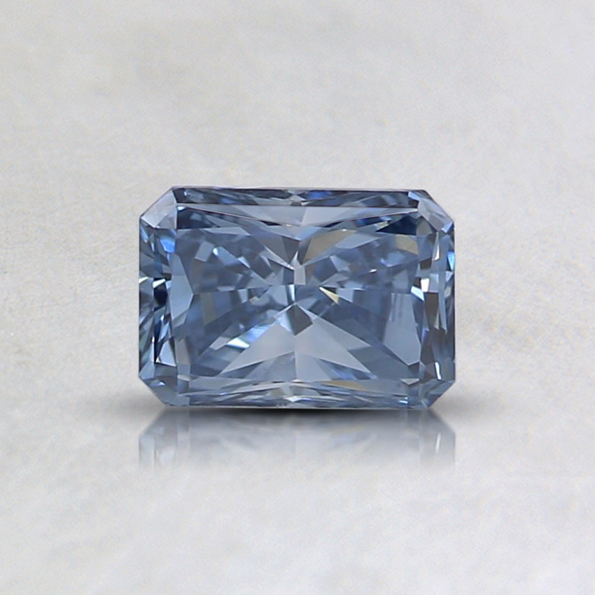 0.49 Ct. Fancy Intense Blue Radiant Lab Created Diamond