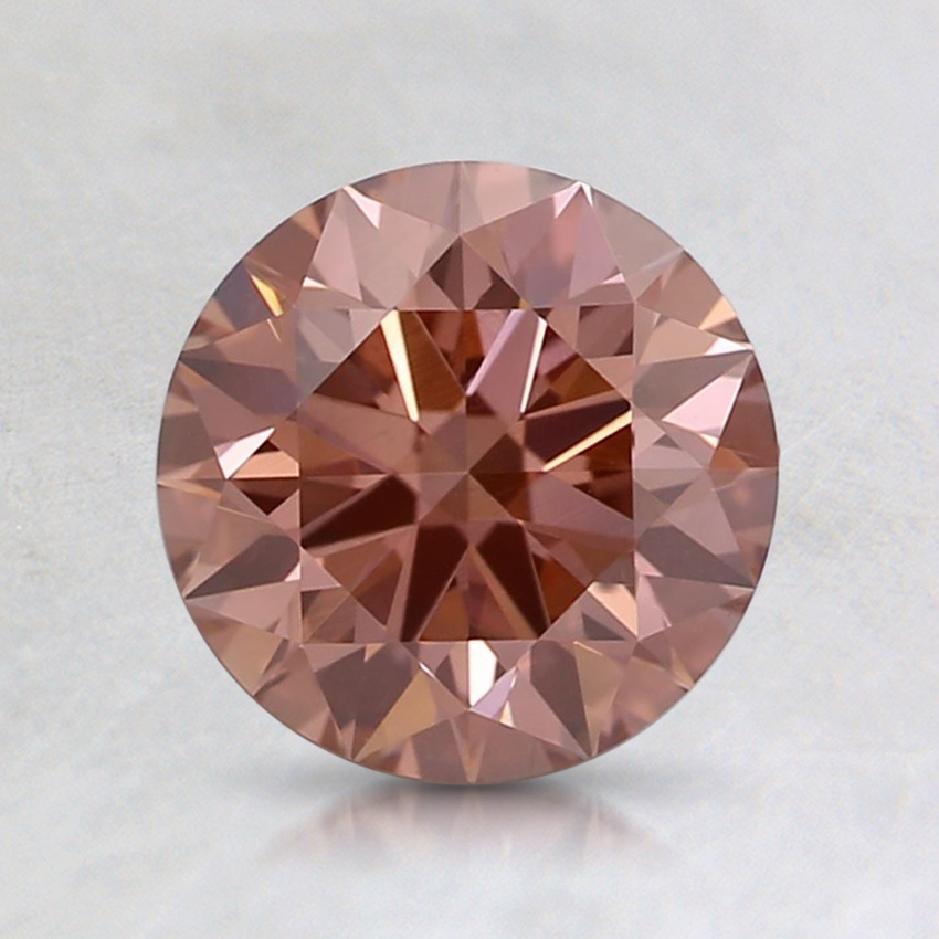 1.16 Ct. Fancy Intense Orangy Pink Round Lab Created Diamond