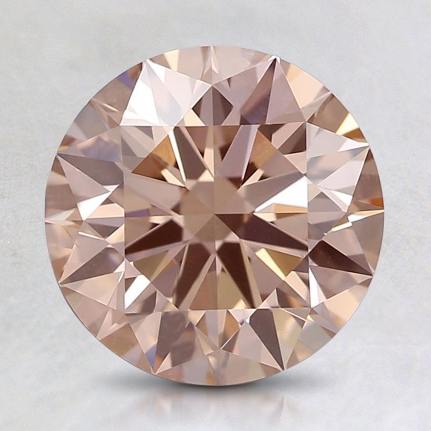 2.01 Ct. Fancy Pink-Brown Round Lab Created Diamond