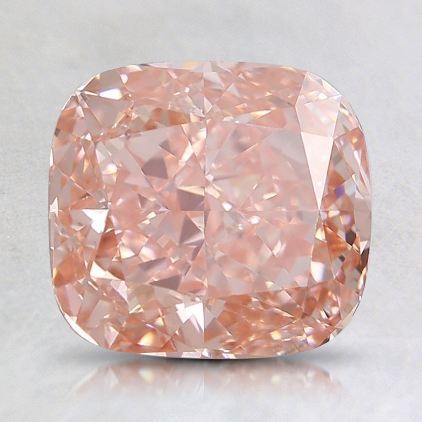 2.18 Ct. Fancy Intense Orangy Pink Cushion Lab Created Diamond