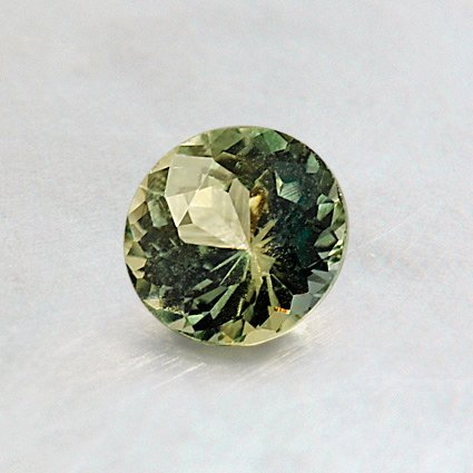 5.25mm Green Round Sapphire, top view