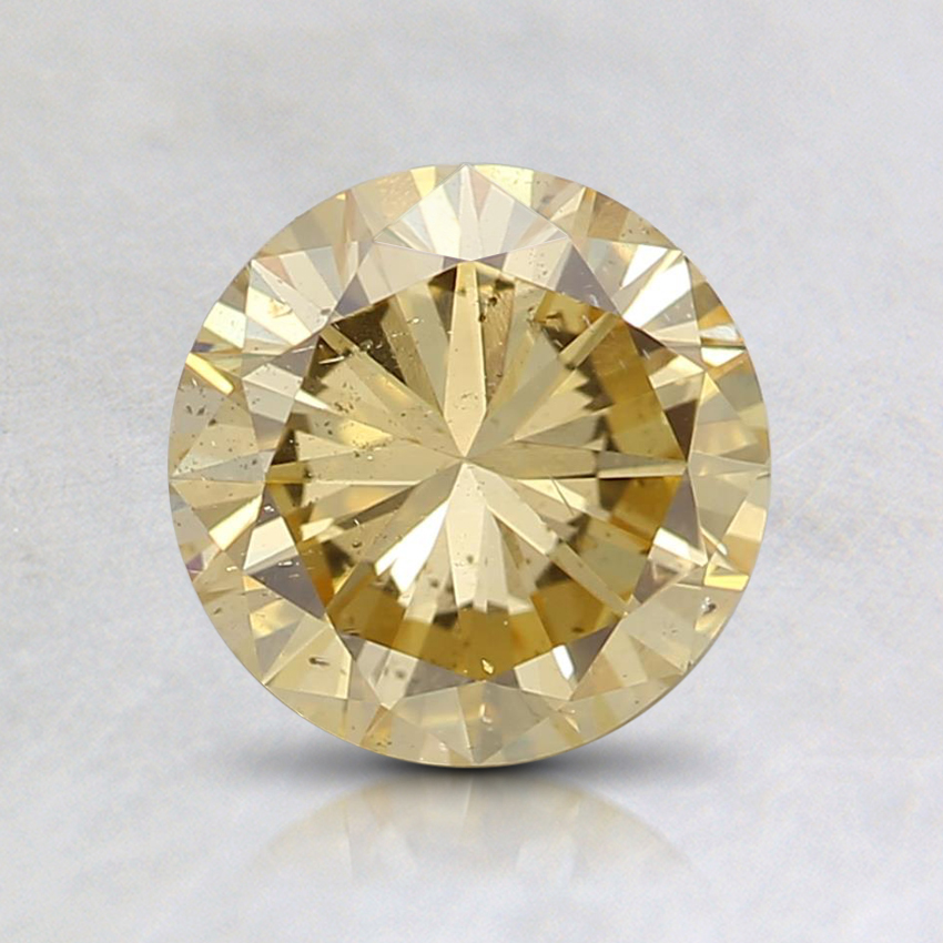 1.06 Ct. Fancy Intense Orangy Yellow Round Diamond