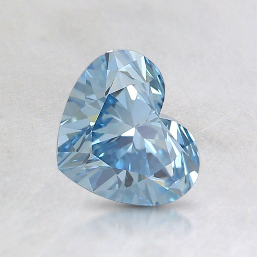 0.70 Ct. Fancy Intense Blue Heart Lab Created Diamond