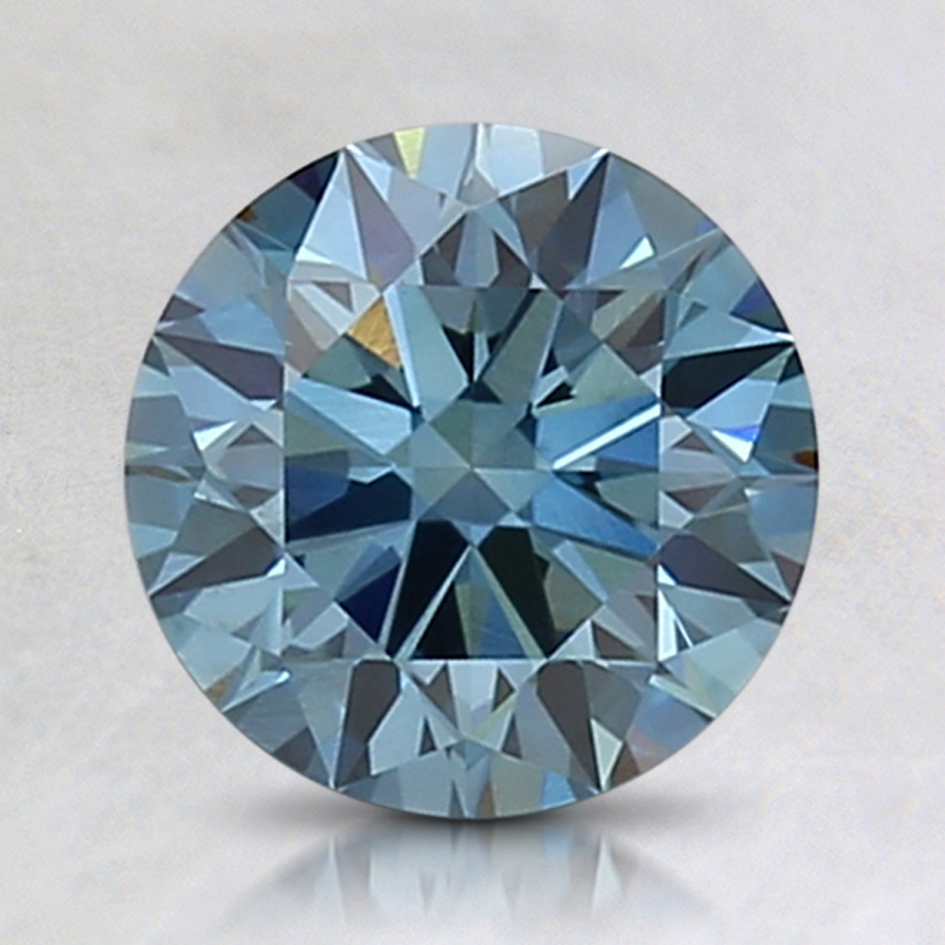 1.58 Ct. Fancy Intense Blue Round Lab Created Diamond
