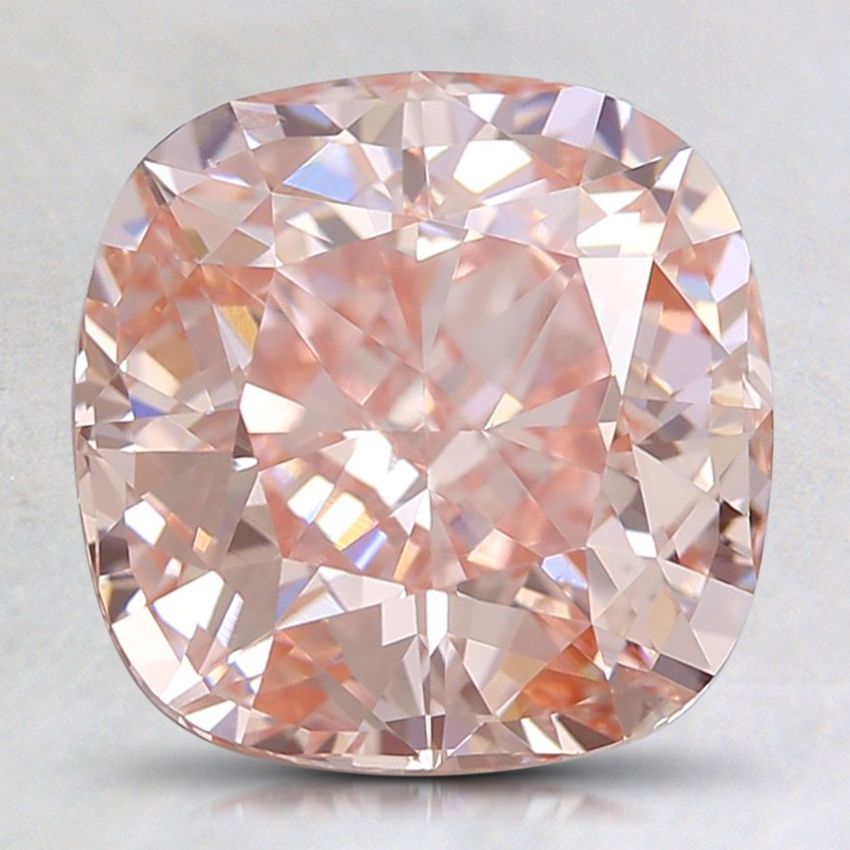 3.00 Ct. Fancy Orangy Pink Cushion Lab Created Diamond