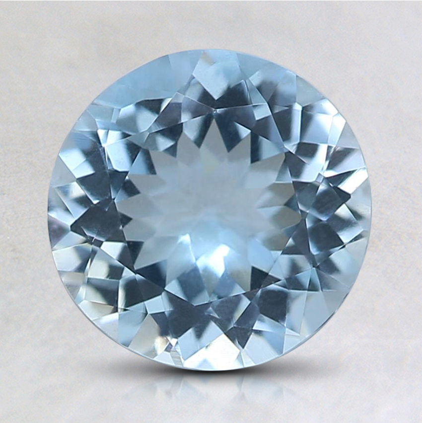 7.7mm Round Aquamarine
