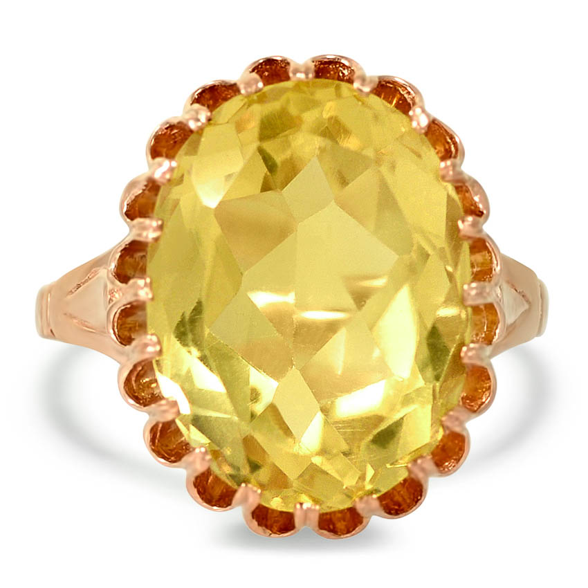 Edwardian Citrine Cocktail Ring
