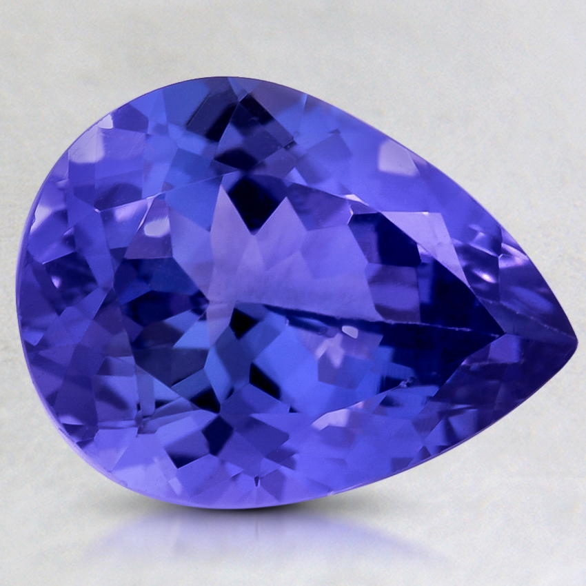 12.5x9.5mm Premium Purple Pear Tanzanite