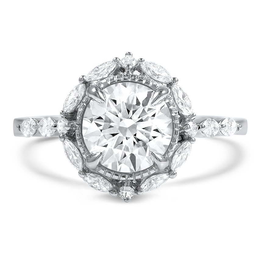 Custom Marquise Halo Diamond Ring