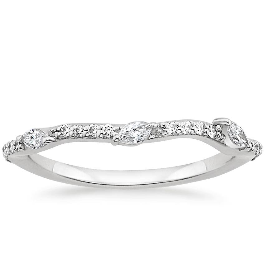 Luxe Willow Contoured Diamond Ring (1/5 ct. tw.) in Platinum