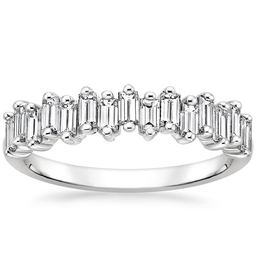 Alternating Baguette Diamond Ring