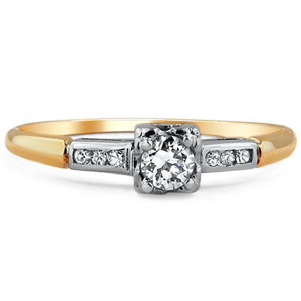 The Olivienne Ring, top view