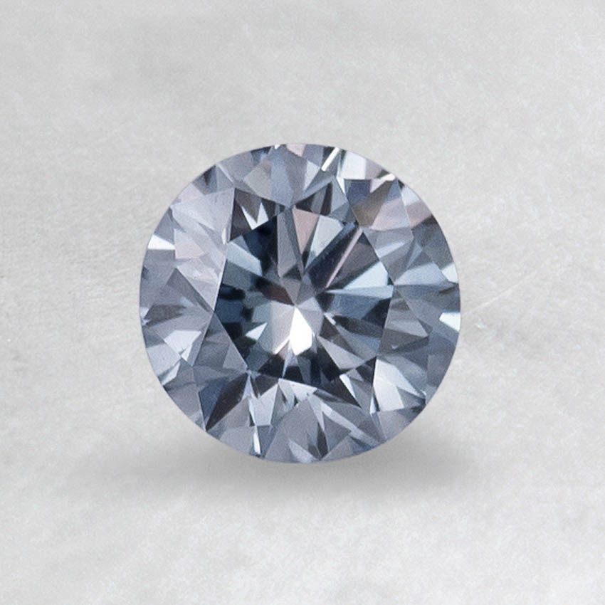 0.32 CT. Lab Created Blue Round Diamond, top view