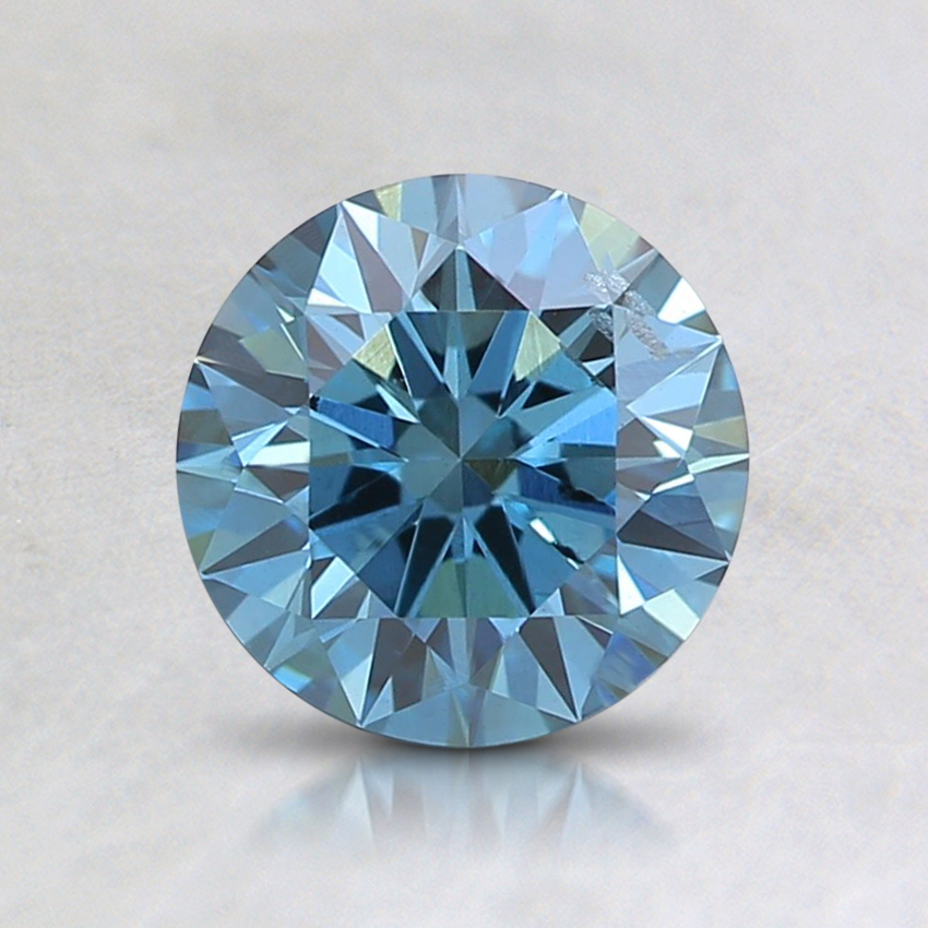 0.93 Ct. Fancy Deep Blue Round Lab Created Diamond
