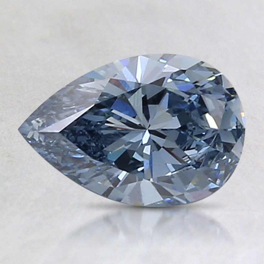 1.06 Ct. Fancy Vivid Blue Pear Lab Created Diamond