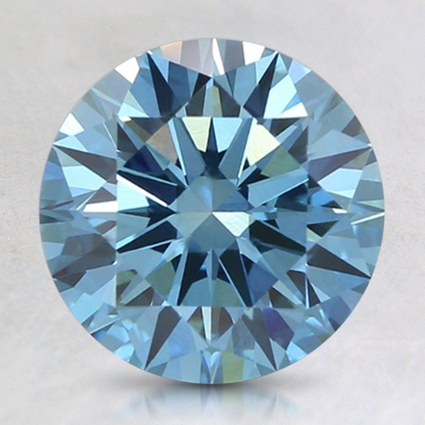 2.08 Ct. Fancy Intense Blue Round Lab Created Diamond