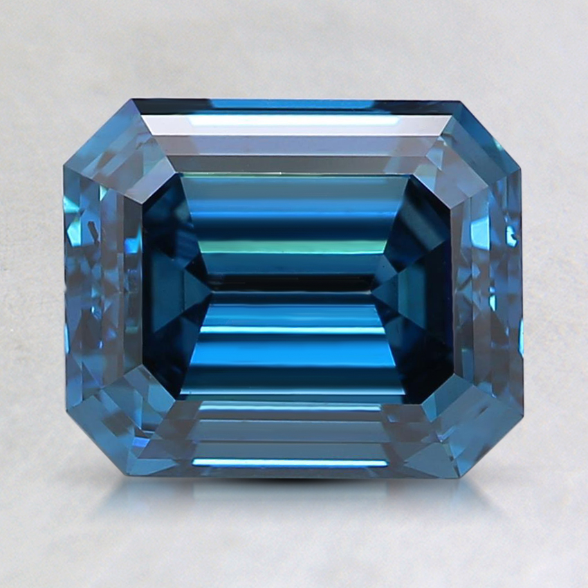 2.09 Ct. Fancy Deep Blue Emerald Lab Created Diamond