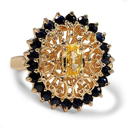 The Floria Ring, top view