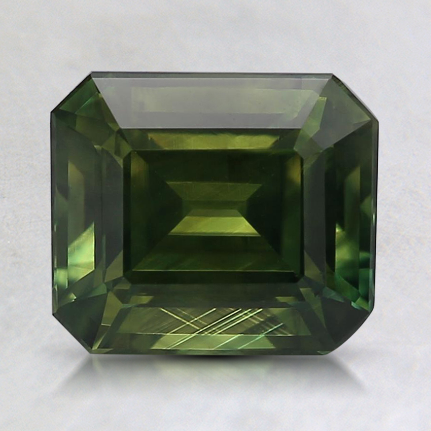 7.7x6.7mm Unheated Green Emerald Australian Sapphire