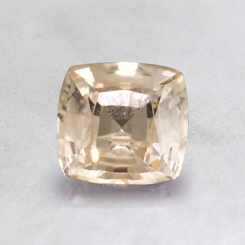 5.5mm Unheated Peach Cushion Sapphire, top view