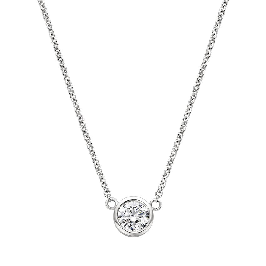 Bezel Set Diamond Necklace Brilliant Earth