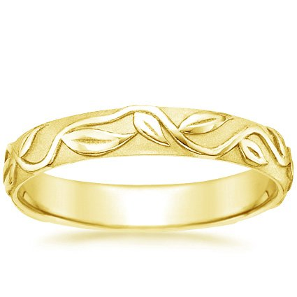 18K Yellow Gold Ivy Ring, top view