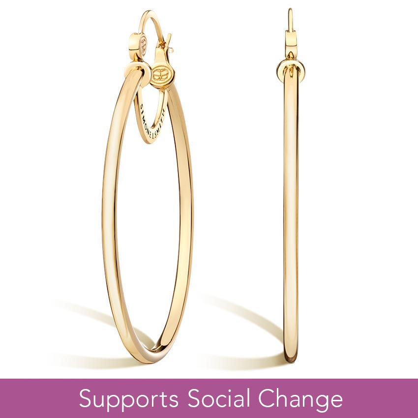 Simone I. Smith Signature Large Hoop Earrings in 14K Yellow Gold Vermeil
