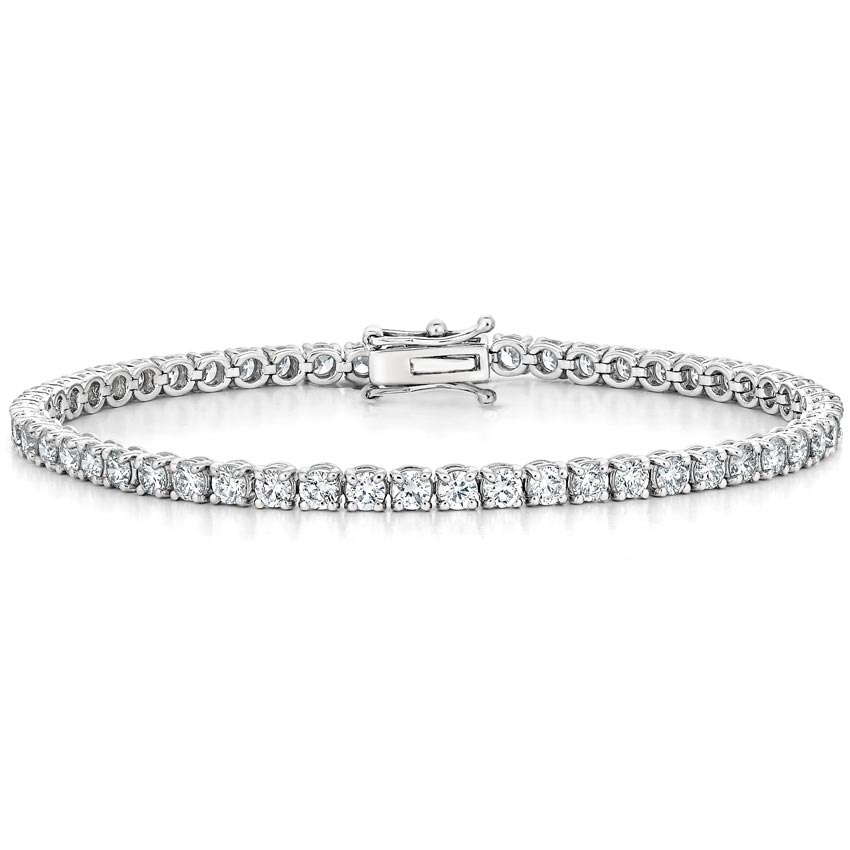 18K White Gold Diamond Tennis Bracelet (5 ct. tw.)