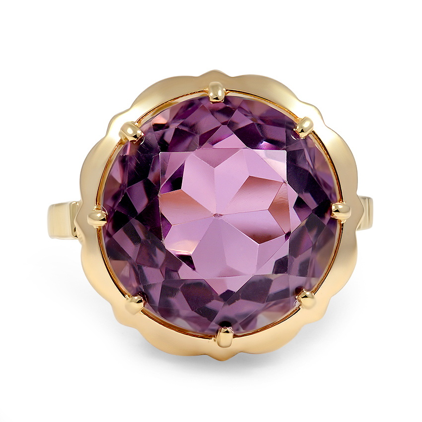 Art Deco Amethyst Cocktail Ring