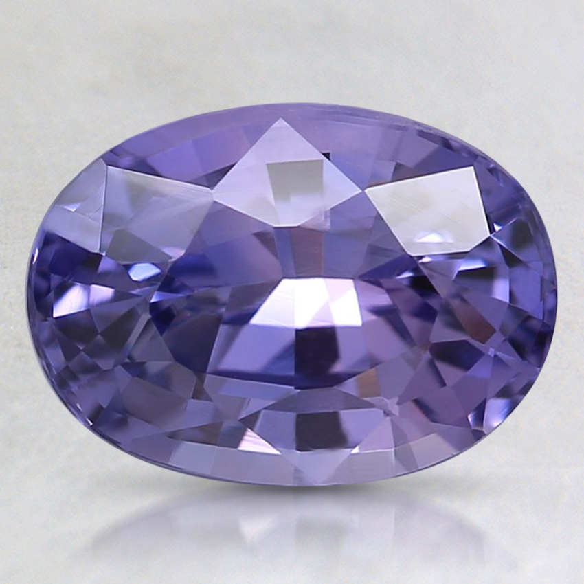 9.3x6.7mm Unheated Purple Oval Sapphire