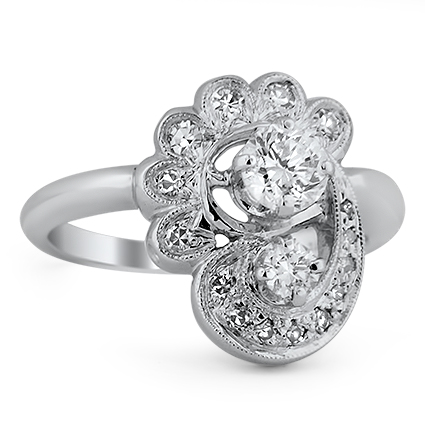 The Tallulah Ring, top view
