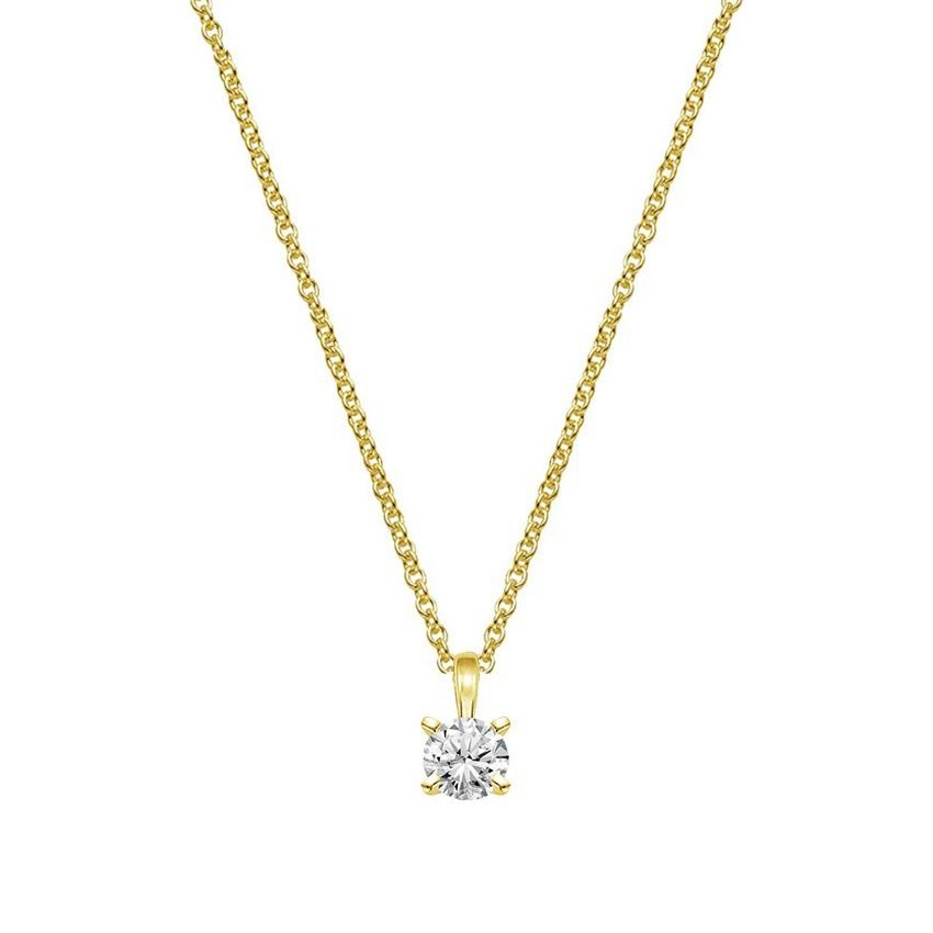 Four-Prong Diamond Necklace (1/4 ct. tw.)