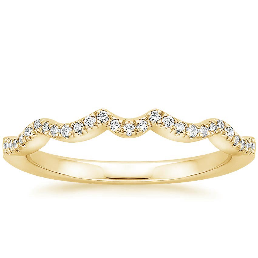 Yellow Gold Infinity Contoured Diamond Ring