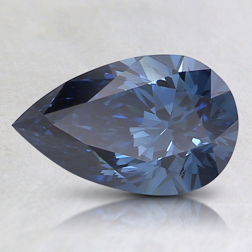 0.84 Ct. Fancy Deep Blue Pear Lab Created Diamond