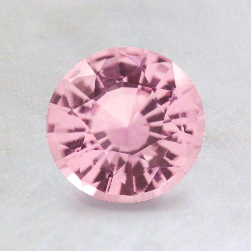 6.5mm Light Pink Round Sapphire, top view