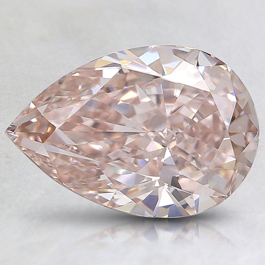 1.73 Ct. Fancy Light Brownish Pink Pear Lab Created Diamond