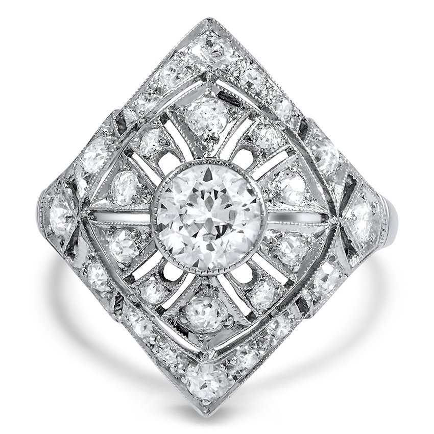 Edwardian Diamond Cocktail Ring