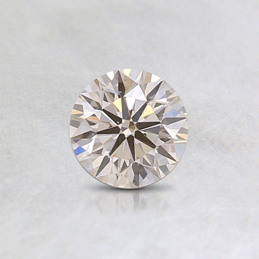 0.31 Ct. Fancy Very Light Orange Round Lab Created Diamond