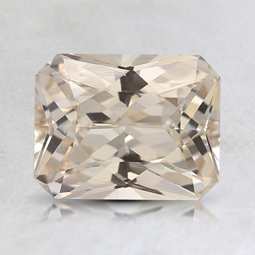 7.5x5.9mm Unheated Peach Radiant Sapphire, top view