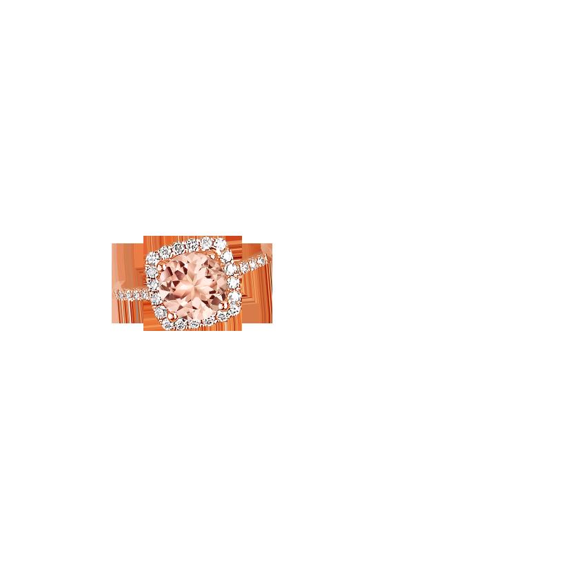Brilliant Earth Odessa Morganite Ring Rose Gold