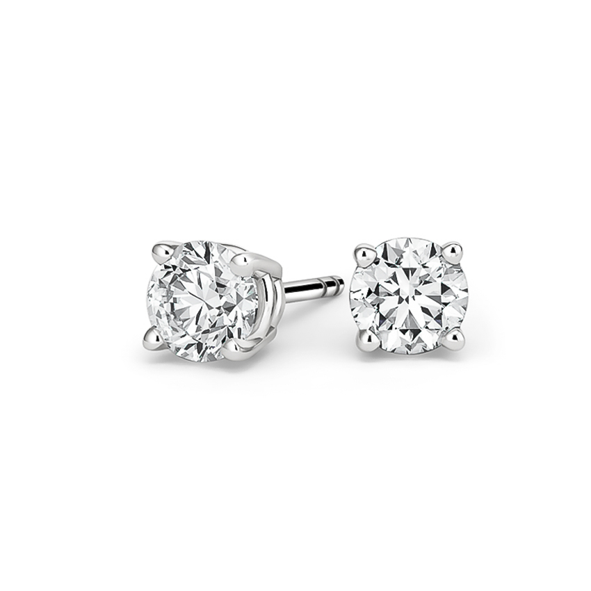 Certified Lab Created Diamond Stud Earrings (1 1/2 ct. tw.) in 18K White Gold