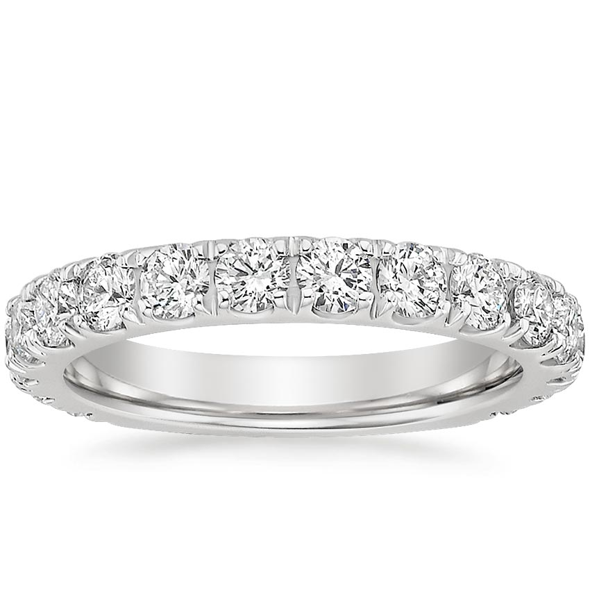 Luxe Scalloped Pavé Wedding Band