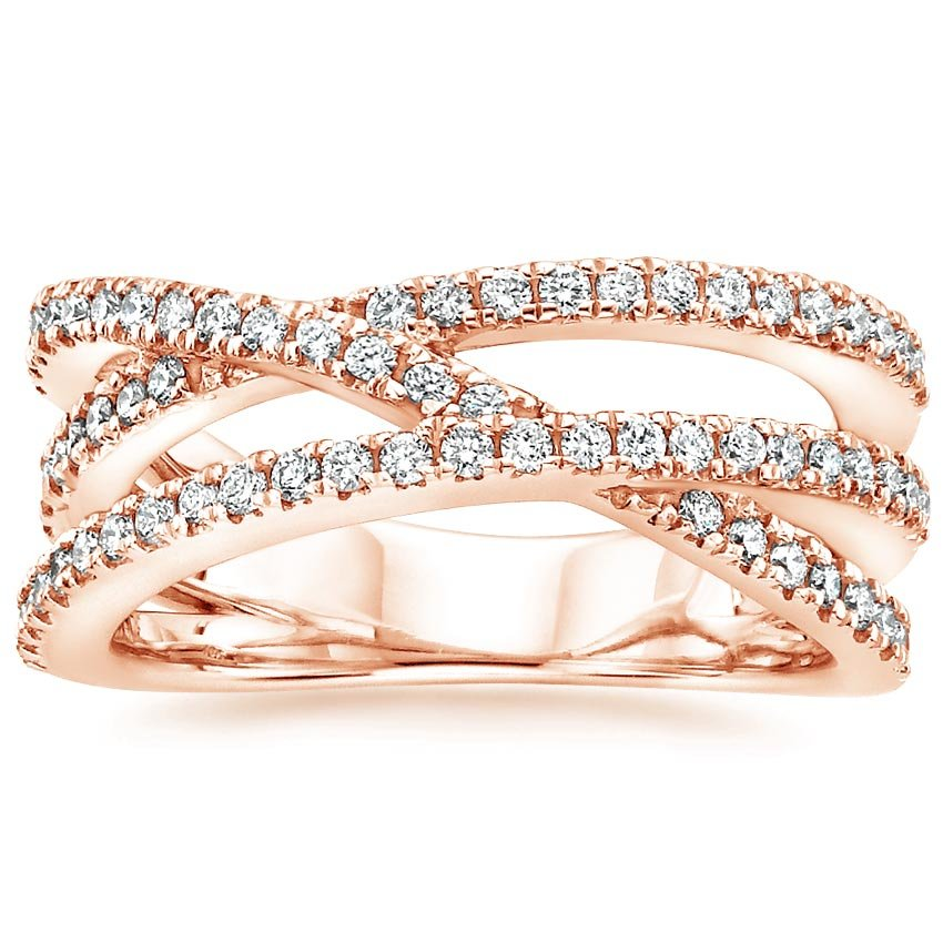 Rose Gold Entwined Bisou Diamond Ring (1/2 ct. tw.)