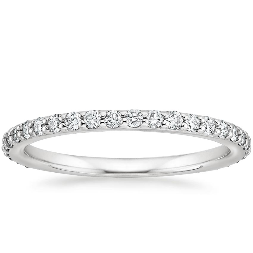 Petite Shared Prong Eternity Diamond Ring (1/2 ct. tw.) in 18K White Gold